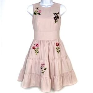 NWT. KATE SPADE. Rose Dew Floral Embroidered Dress